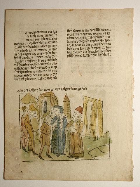 Historia septem sapientum Romae, deutsch: Hie nach