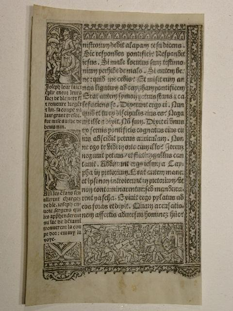 Pergamentblatt aus einem Stundenbuch: Horae Beatae Mariae