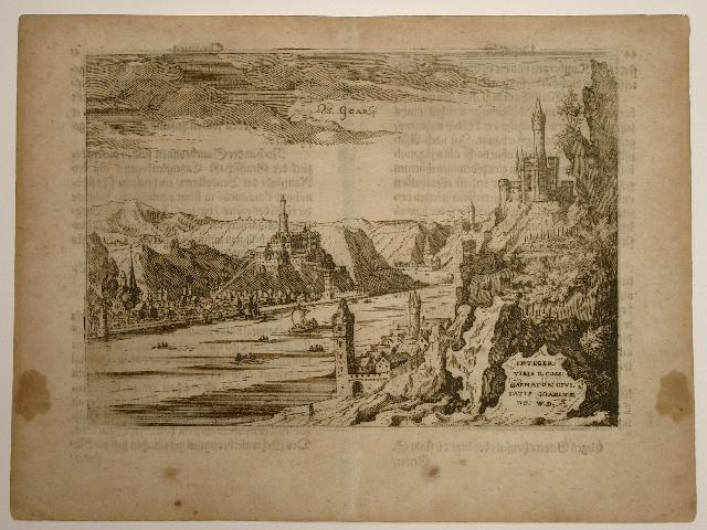 Ansicht von Sankt Goar am Rhein. Aus: Wilhelm Dilich: