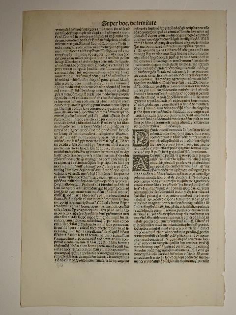 Opuscula. (GWM 46033, H 1542). Blatt 315.: Thomas de Aquino: