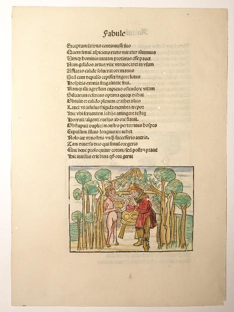"""Vita et Fabulae. Blatt aus der """"Fabule: Aesopus (Aesop):"""