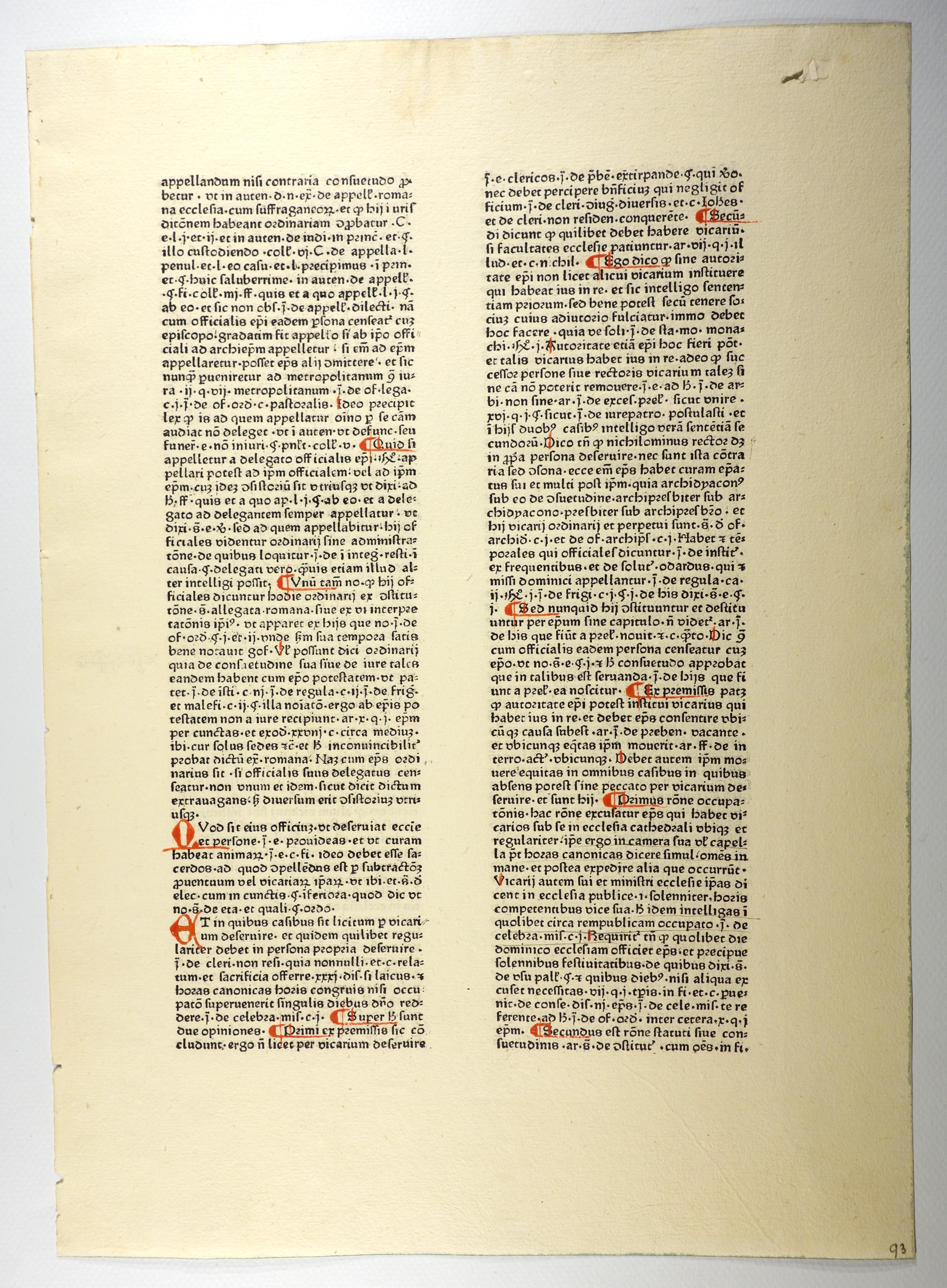 Summa super titulis Decretalium. (GW 12233, Hain: Henricus de Segusio