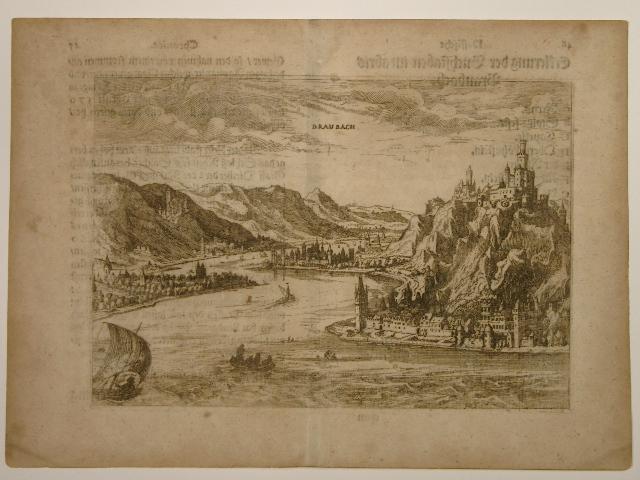 Ansicht des Rheines bei Braubach. Aus: Erster: Wilhelm Dilich (Scheffern):