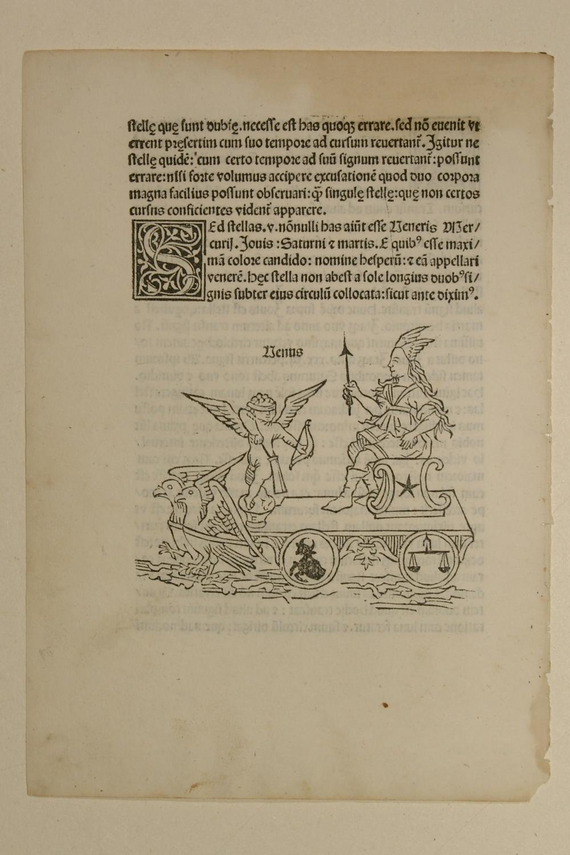Poetica astronomica, Poeticon astronomicon. Blatt mit Venus.: C. Julius Hyginus
