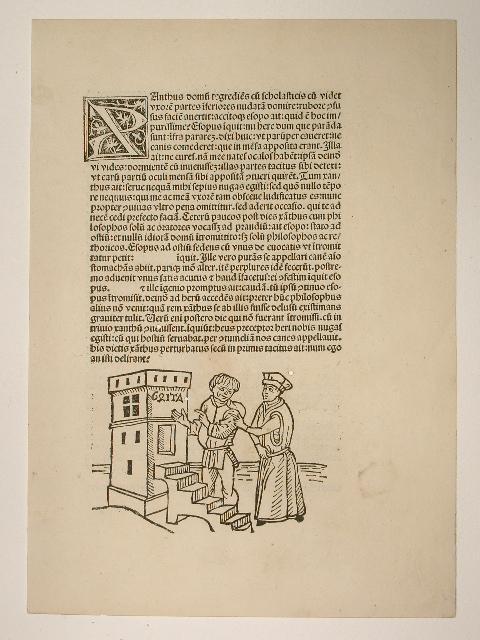 """Vita et Fabulae. Blatt aus der """"Vita: Aesopus (Aesop):"""