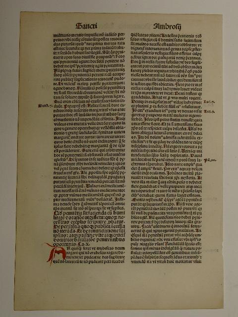 Opera. Libri tertie partis: De Penitentia Liber: S. Ambrosius: