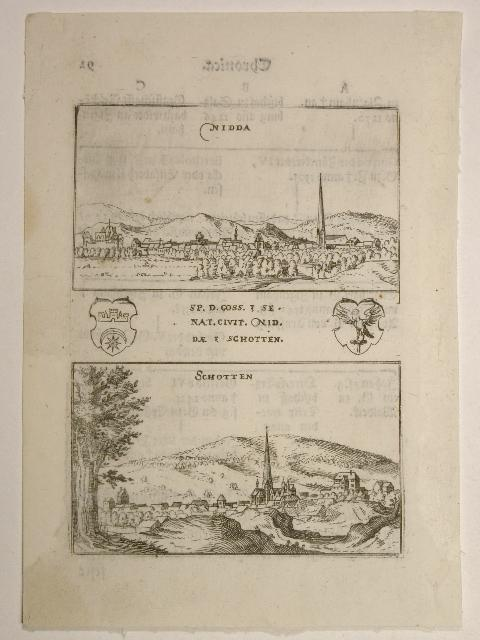 Nidda und Schotten. Aus: Hessische Chronica.: Wilhelm Dilich (Scheffern):