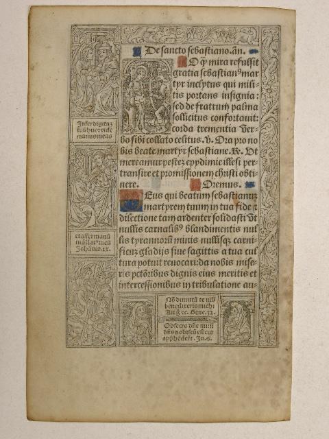 Horae Beatae Mariae Virginis (Stundenbuchblatt). Pergament.