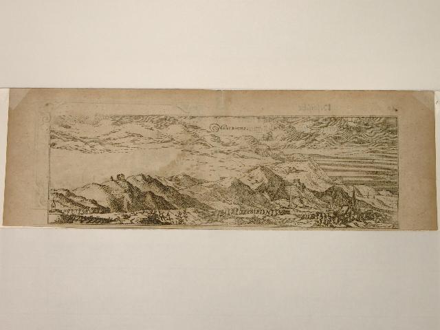 Früheste Druck-Ansicht des Melibocus (Hessische Bergstrasse). Aus: Wilhelm Dilich: