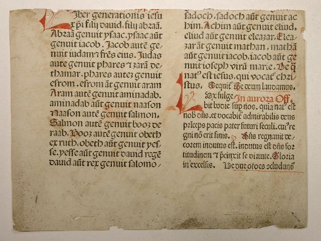 Missale Basiliense. Feria Secunda post Pasca (UB