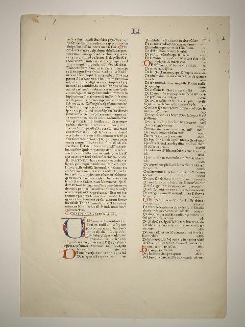 Speculum historiale. Blatt aus: Secundi Voluminis Liber: Vincentius Bellovacensis (Vinzenz