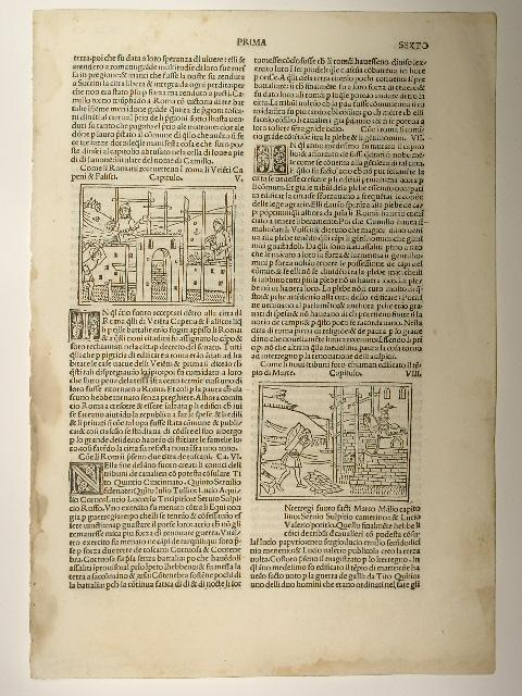 """Decades, ital. Blatt: """" Libro deca prima: Titus Livius:"""
