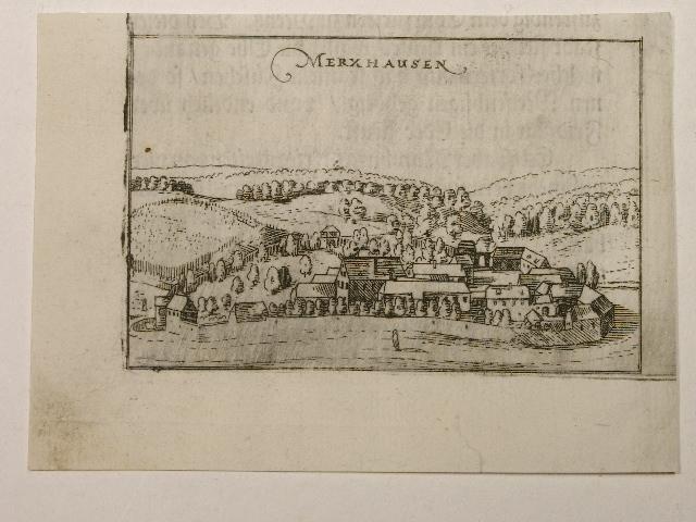 Merxhausen. Aus: Hessische Chronica.: Wilhelm Dilich (Scheffern):