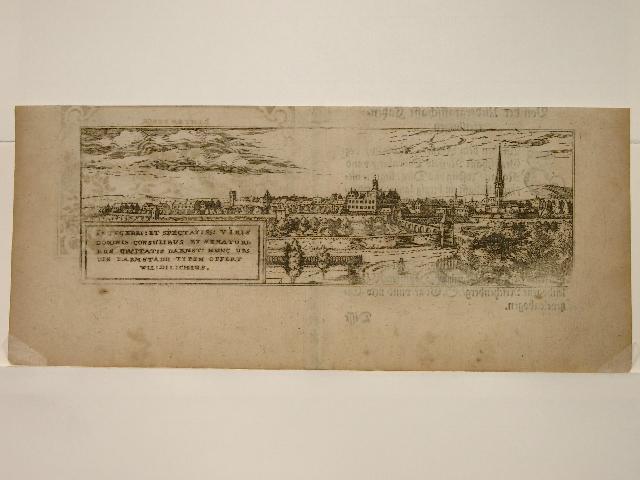 Früheste Druck-Ansicht der Stadt Darmstadt. Aus: Hessische: Wilhelm Dilich:
