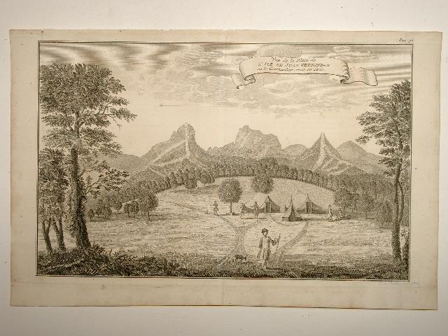 Vue de la Place de L'Ile de: George Anson: