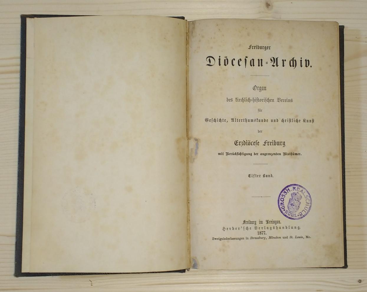Freiburger Diöcesan-Archiv. Organ des kirchlich-historischen Vereins für: Erzdiöcese Freiburg: