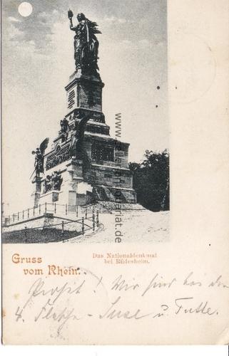 Gruss vom Rhein. Das Nationaldenkmal bei Rüdesheim: Rüdesheim