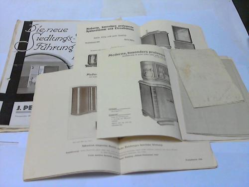 17 verschiedene Werbeprospekte / Reklameblätter: Architektur / Innenarchitektur
