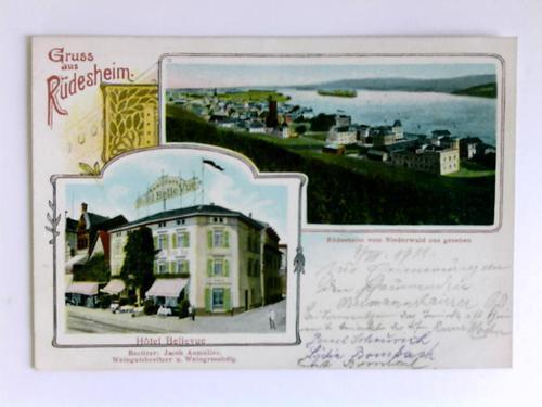 Postkarte: Gruss aus Rüdesheim: Rüdesheim