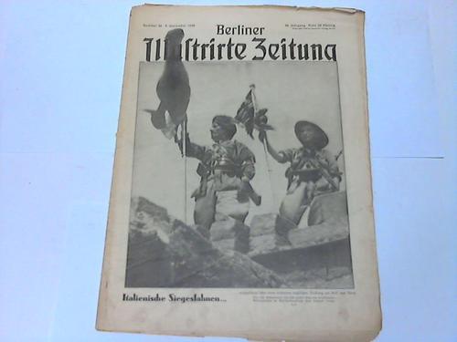 Italienische Siegesfahnen .: Berliner Illustrierte Zeitung