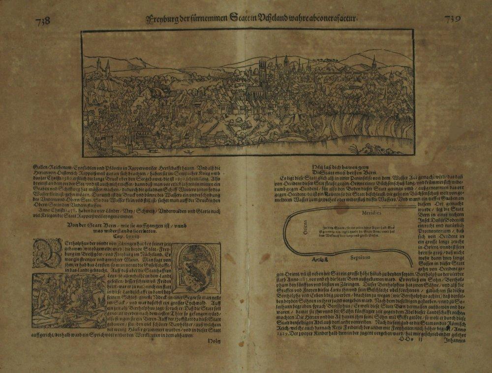 Freyburg der fürnemmen Statt in Uchtland wahre: MUNSTER, Sebastian].