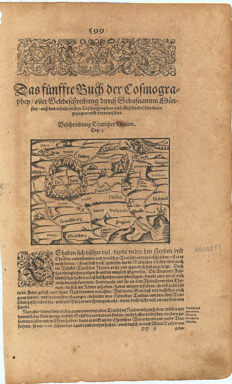 Beschreibung Teutscher Nation.: MUNSTER, Sebastian].