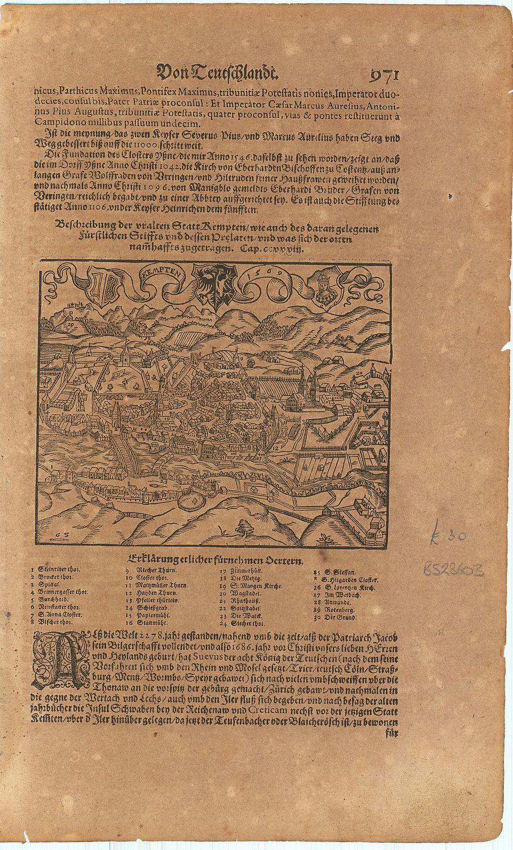 Kempten / 1569.: MUNSTER, Sebastian].
