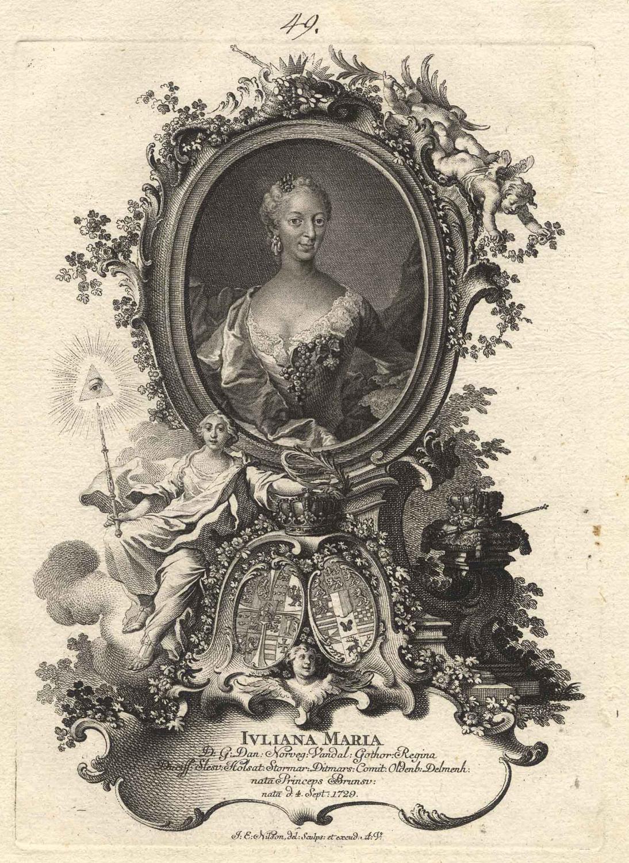 Wolfenbüttel, Schloss Fredensborg 04. 09. 1729 -: JULIANE Maria von