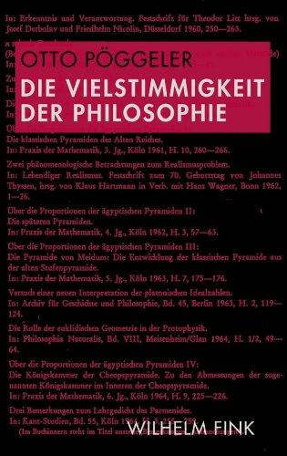 Die Vielstimmigkeit der Philosophie: Otto, Pöggeler: