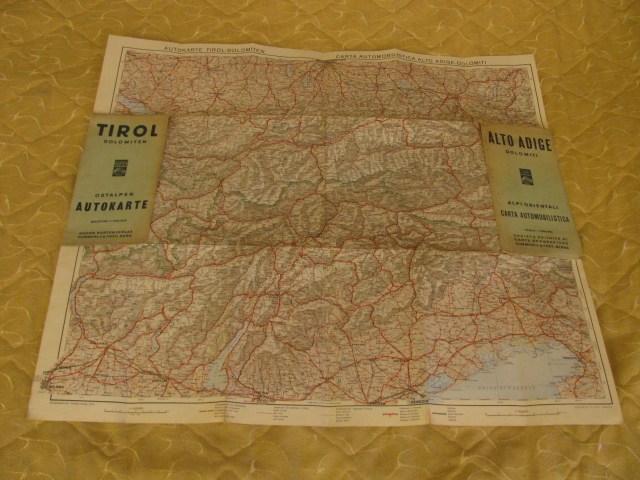Autokarte Tirol-Dolomiten,