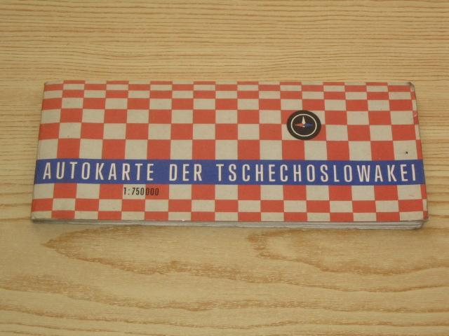 Autokarte der Tschechoslowakei,