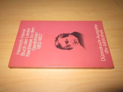 Buch der Lieder/Nachlese zu den Gedichten 1812: Heine, Heinrich