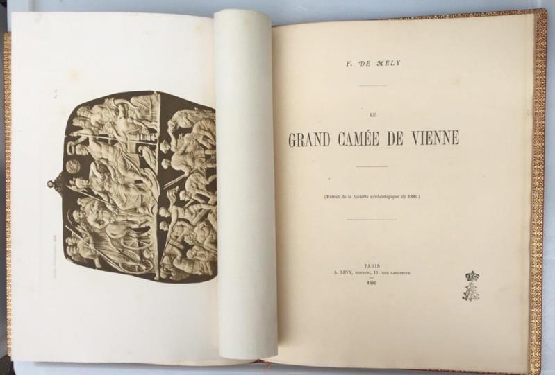 Le Grand Camée de Vienne, (Extrait de: Mély, F. de,