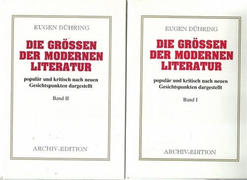 Die Größen der modernen Literatur populär und: Dühring, Eugen