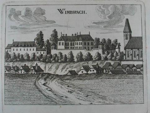 """Wimbspach. Kupferstich aus G. M. Vischer """"Topographia: Bad Wimsbach-Neydharting -"""
