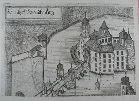 Herrshafft Neidharting. Kupferstich aus G. M. Vischer: Bad Wimsbach -