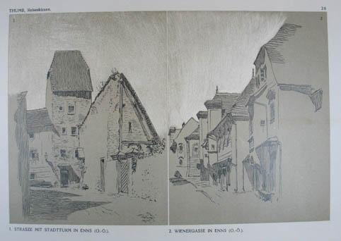 "Lithographie v. E. Thumb aus ""Reiseskizzen aus: Enns"