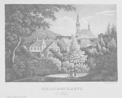 Heiligenkreuz bei Baden. Aquatinta aus Th. Festorazzo: Heiligenkreuz