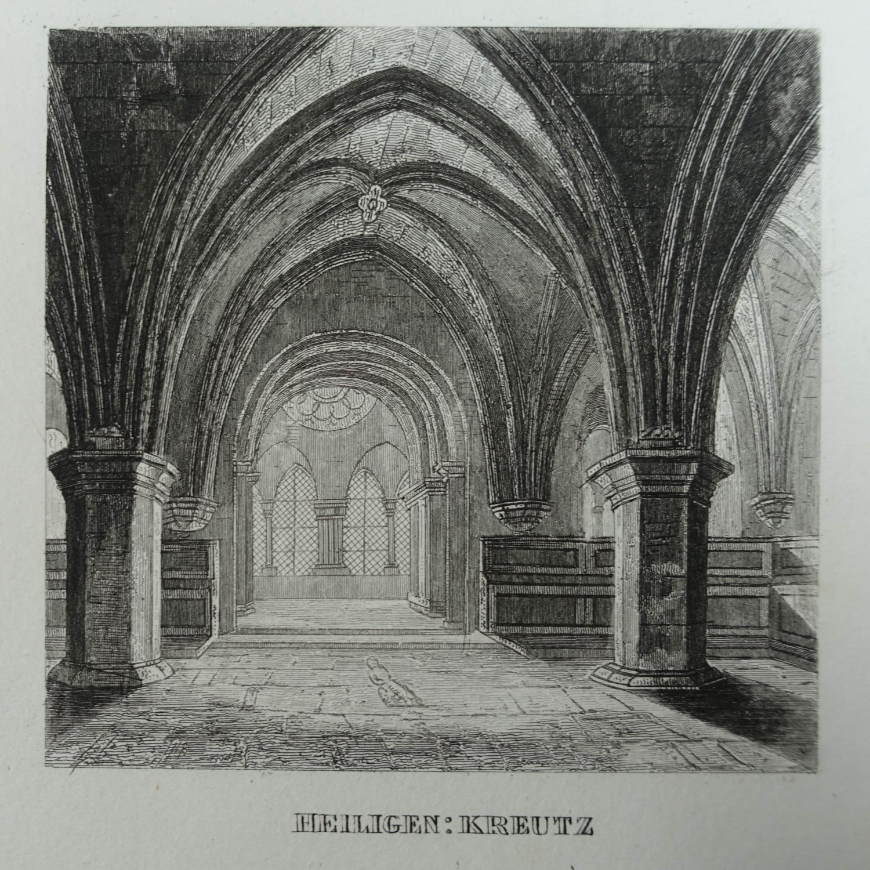 """Heiligen-Kreutz. Stahlstich aus Schmidl """"Handbuch für Reisende."""": Heiligenkreuz"""