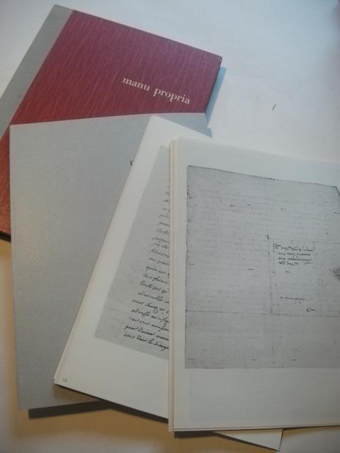 Ausgewählte Stücke aus den Briefsammlungen der UniversitätsBibliothek: manu propria