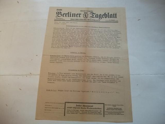 Das deutsche Weltblatt.: Berliner Tageblatt