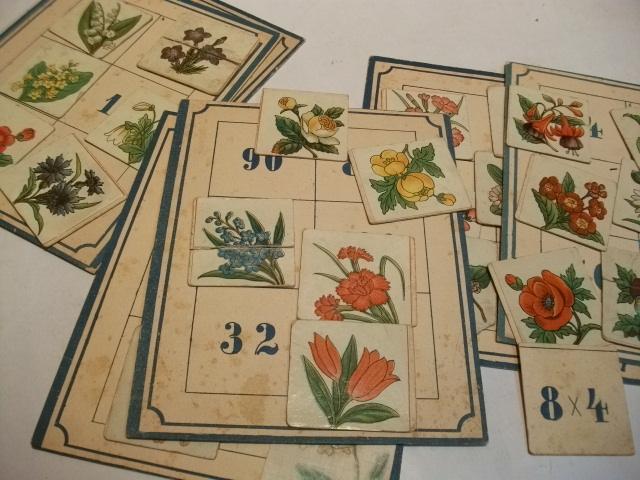 6 Pappkartons mit je 6 Bildchen zum: Legespiel