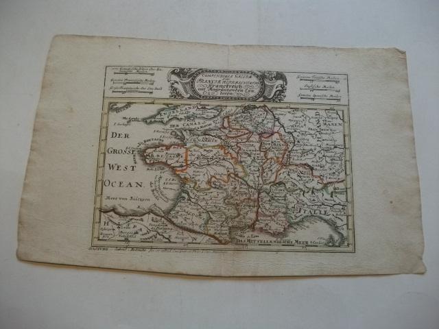 Compendiosa Galliae sive Franciae representato Franckreich mit: Bodenehr, Gabriel (Kupfferstecher)