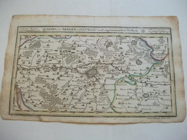 Mons oder Bergen in Hennegau. Mitt angraenzenden: Bodenehr, Gabriel (Kupfferstecher)