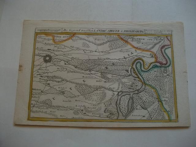 Die Gegend zwischen Landau, Seyer u. Philipsburg.: Bodenehr, Gabriel (Kupfferstecher)