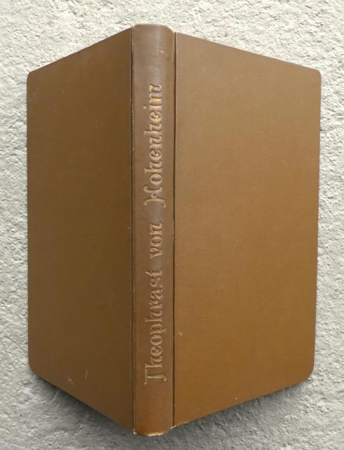 Theophrast von Hohenheim. Mit einem Bildnis Hohenheims.: Hartmann, R. [Reinhold]