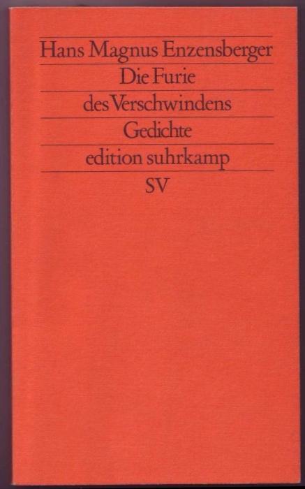 Die Furie des Verschwindens. Gedichte.: Enzensberger, Hans Magnus