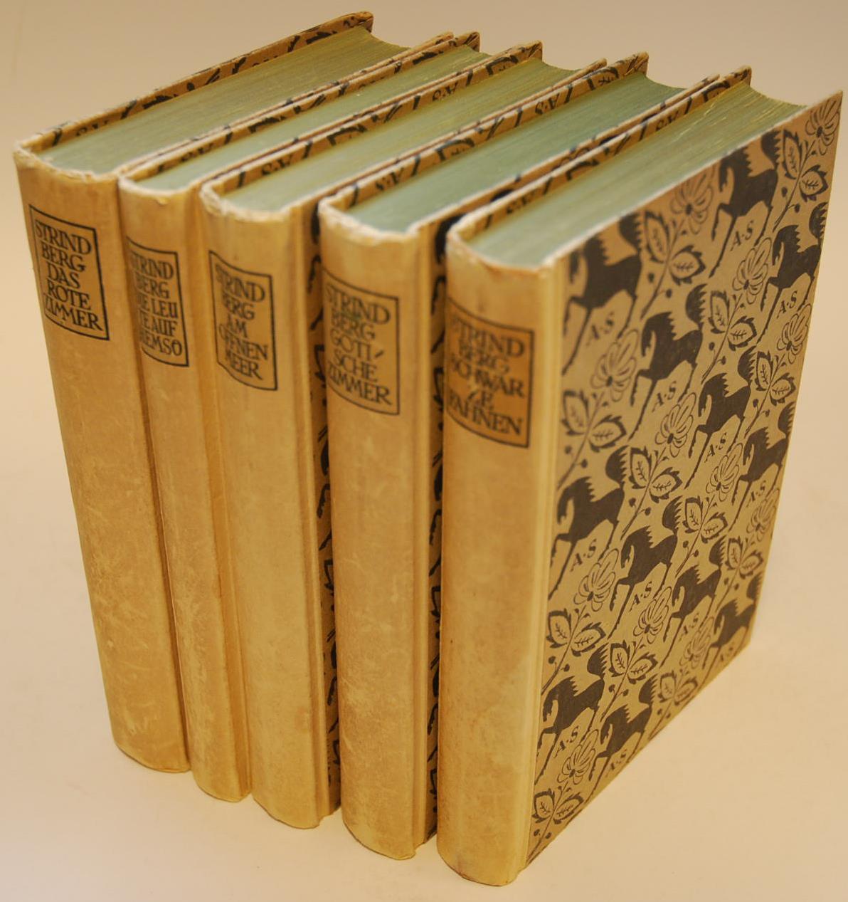 Ausgewählte Romane [in 5 Bänden]: Das rote: Strindberg, August und