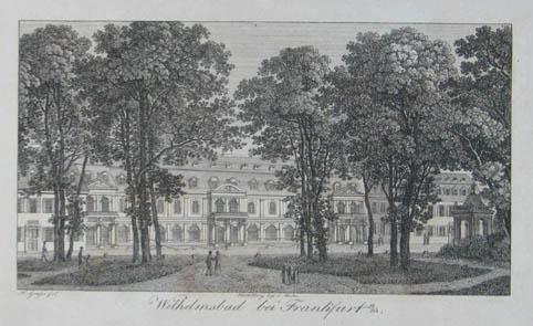 Wilhelmsbad bei Frankfurt a/m. Kupferstich v. H.: Hanau