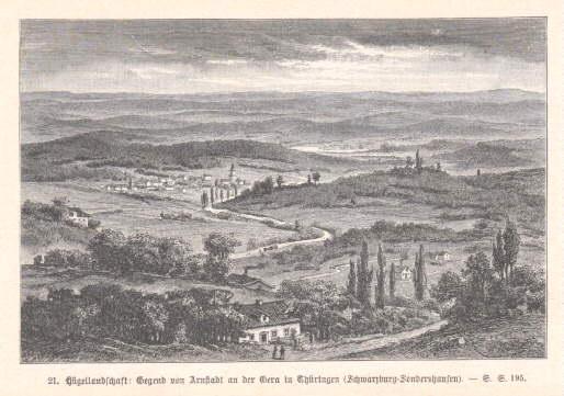 Gegend von Arnstadt an der Gera in: Arnstadt -